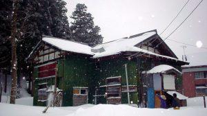 家根谷部の部分融雪