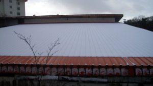 軒先部分のみ屋根融雪システムを施工1