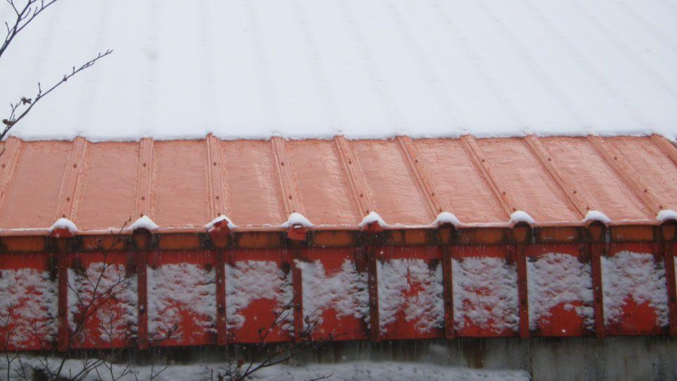 軒先部分のみ屋根融雪システムを施工2