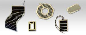 PTC面状発熱体は、薄型で柔軟性に富み、柔らかいものや、曲面円筒形等に張り付けて使用する薄型ヒーターです。