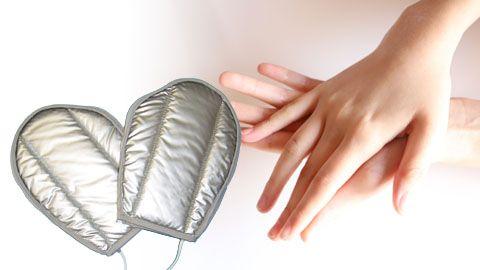 【エステ用品】ハンドケア・ネイルケアに効果的!「ビューティー・ハンドウォーマー・シングル」 ミトン型の電気ハンドウォーマー