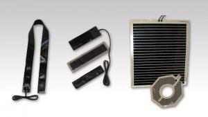 PTC面状発熱体は、薄いシート状のヒーターで、平面や曲面をムラなく温めることのできるヒーターです