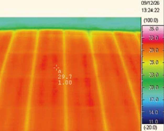 電気式床暖房システム「ゆか暖らん」の均熱性
