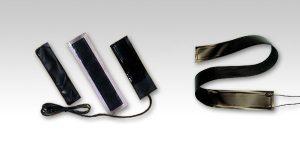 PTC面状発熱体は、温めたい物・場所に、巻き付け、貼り付けして使用する帯状の薄型ヒーターです。