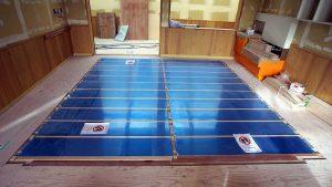 電気式床暖房システム「ゆか暖らん」は、保育園、幼稚園の床暖房に使用されています。