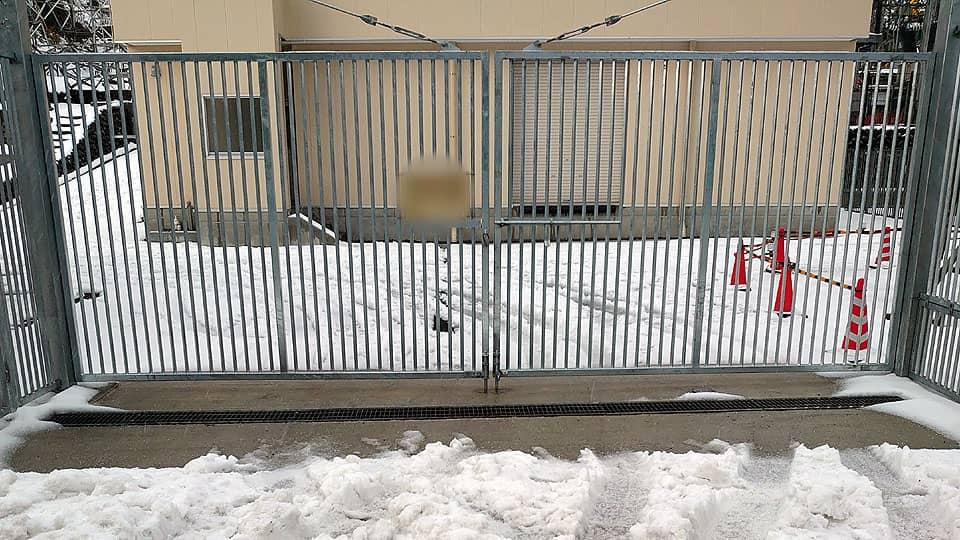 ロードヒーティング融雪状況1