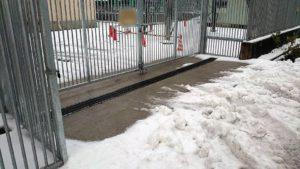 ロードヒーティング融雪状況2